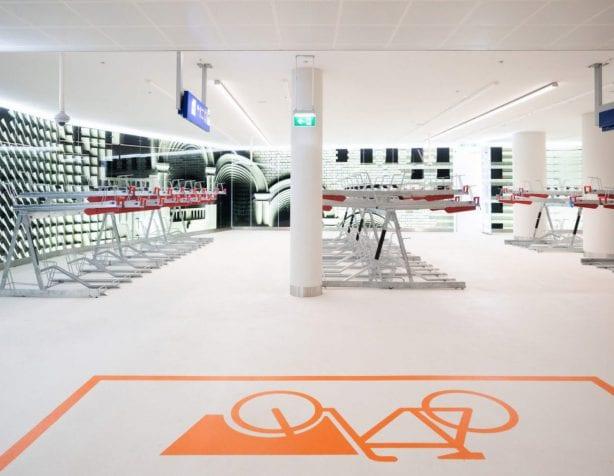 De nieuwe fietsenstalling in Den Haag